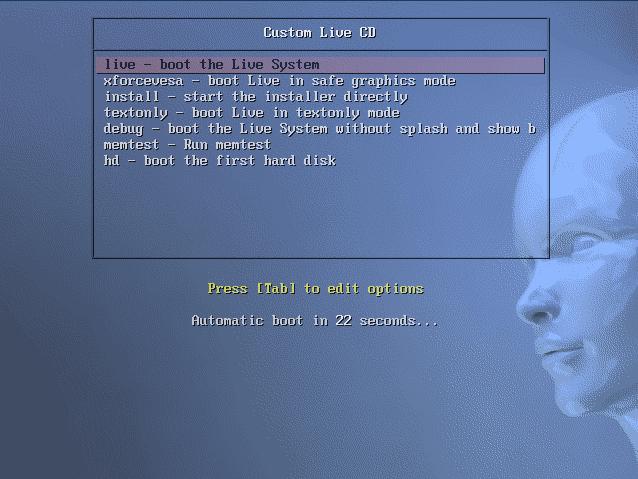 LiveDVDブート画面